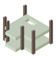 building construction city icon isometric 3d vector image