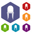 Chair icons set vector image