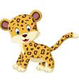 cute leopard cartoon vector image