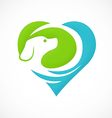 dog pet love abstract logo vector image