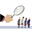 Employee evaluation vector image