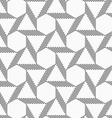 Monochrome striped blocks forming triangles and vector image