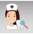 nurse tooth search medical vector image
