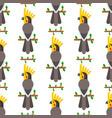 parrots birds seamless pattern animal nature vector image