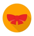 Ribbon bow icon flat vector image