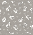seamless abstract floral pattern gray and white vector image