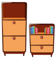two cabinets with drawers vector image
