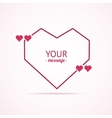 Valentine Card Quote Blank vector image