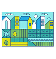 with city landscape in trendy linear style vector image