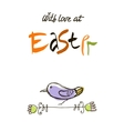 With love at Easter card design calligraphic text vector image