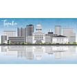 Topeka Skyline with Gray Buildings vector image