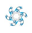 Cooker teamwork logo vector image vector image