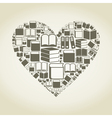 Book heart vector image vector image