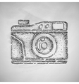 old photocamera icon vector image