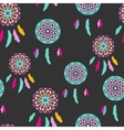 Seamless pattern with freehand dreamcatchers vector image