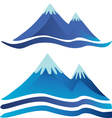 Blue mountains logos vector image