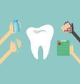 dentist treats teeth vector image