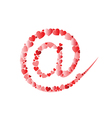 Email symbol from heart vector image