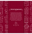 Houses background with pace for text vector image