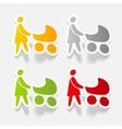 realistic design element family vector image