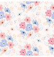 seamless floral pattern with cosmos flowers vector image
