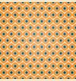 seamless geometric pattern in retro orange colors vector image