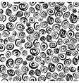 Seamless monochrome pattern with squiggles vector image