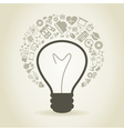 Bulb a science vector image vector image