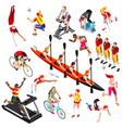 Sport Isometric Sportsmen Olympic Game Set vector image