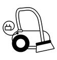 modern vacuum cleaner appliance outline vector image