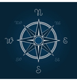 Wind rose Polaris coordination compass poster vector image vector image