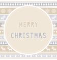 Merry Christmas greeting card39 vector image