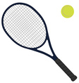Tennis racket vector image