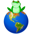 Frog Earth Day vector image vector image