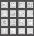 Digital devices icon set Digital devices icon set vector image