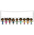 Cheerful happy African-American kids vector image vector image