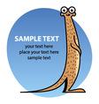 Cartoon meerkat vector image
