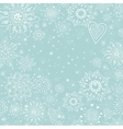 christmas invitation card with white snowflake vector image
