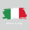 italy watercolor national country flag icon vector image