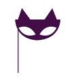 Masquerade Cat Mask vector image