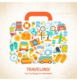 Travel suitcase concept vector image