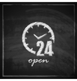 vintage with open 24 hours a day sign on vector image