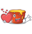 with heart honey character cartoon style vector image