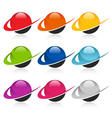 Swoosh Colorful Sphere Logo Icons vector image