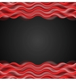 Abstract red wavy dark background vector image vector image