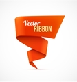 Red ribbon banner vector image