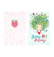 Birthday card design with holiday girl vector image vector image