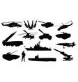 military silhouettes vector image vector image