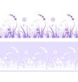 grass pattern with flowers vector image