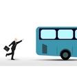 Businessman who runs the bus vector image